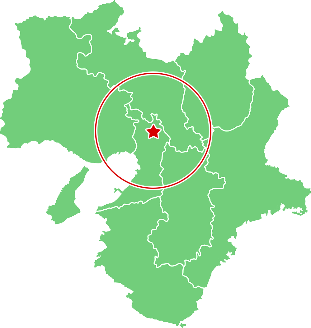 枚方市周邊エリアの地図